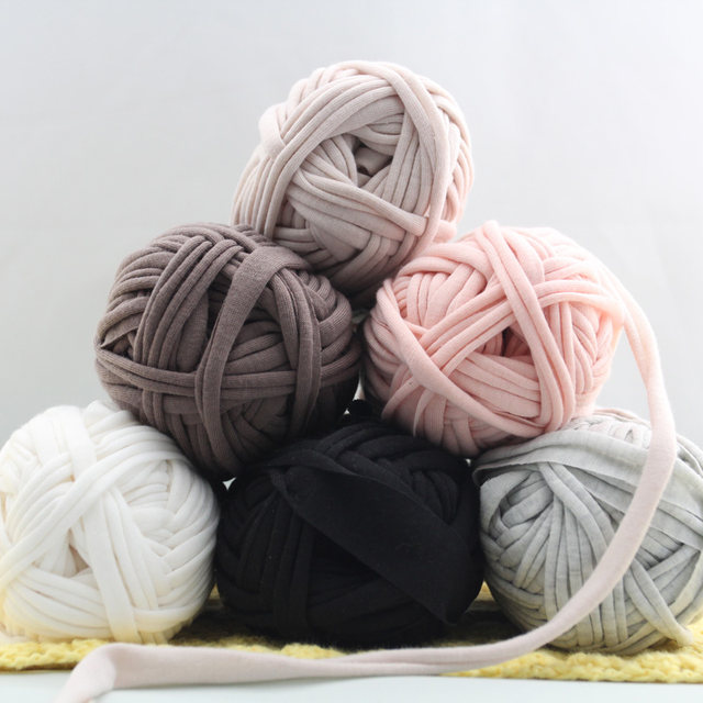 Online 2pcs Woolen Yarn Diy Knitting Wool For Rugs Woven Thread Cotton Cloth Hand Crocheted Basket Rug Blanket Fancy Fabric Aliexpress