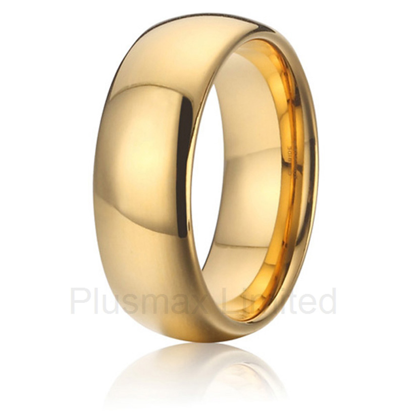 2016 Custom jewelry special day gift anniversary wedding band 8mm pure titanium rings anel feminino cheap pure titanium jewelry wholesale a lot of new design cheap pure titanium wedding band rings
