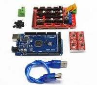 Mega 2560 R3 1pcs RAMPS 1 4 Controller 4pcs A4988 Stepper Driver Module For 3D