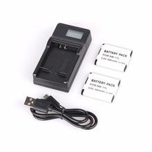 2PCS NB-11L NB 11L Li-ion Batteries + LCD Charger For Canon IXUS 125 155 150 145 140 132 265HS 240HS A3400 A4000 IXUS 275 HS