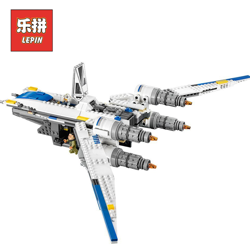 Lepin 05054 Star plan Wars the Wing Star Tie Fighter Building Blocks Model Starfighter Educational Toys for Children Gifts 75155 mini qute kawaii wise hawk star war darth vader x wing starfighter r2d2 yoda building blocks brick model figures educational toy