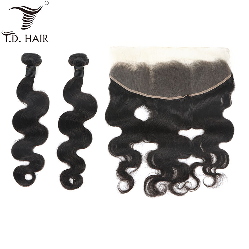 Peruvian Pre Plucked Body Wave Lace Frontal Closure 13x4 with Human Hair Bundles for making a Wig