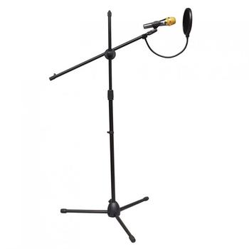 Prático Profissional Balanço Boom Piso Suporte De Metal/microfone Suporte/microfone Suporte Ajustável Estágio Tripé