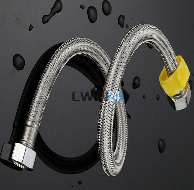 1M Stainless Steel Bathroom Heater Water Shower Head Tube Flexible Hose stainless steel water heater 10l beijing zte
