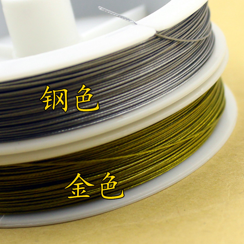 1 Roll High Quality Gold/Steel Color Wire Rope 0.3 0.38 0.45 0.5 0.6 0.7 0.8mm Handmade Beading Thread Accessories DIY Jewelry