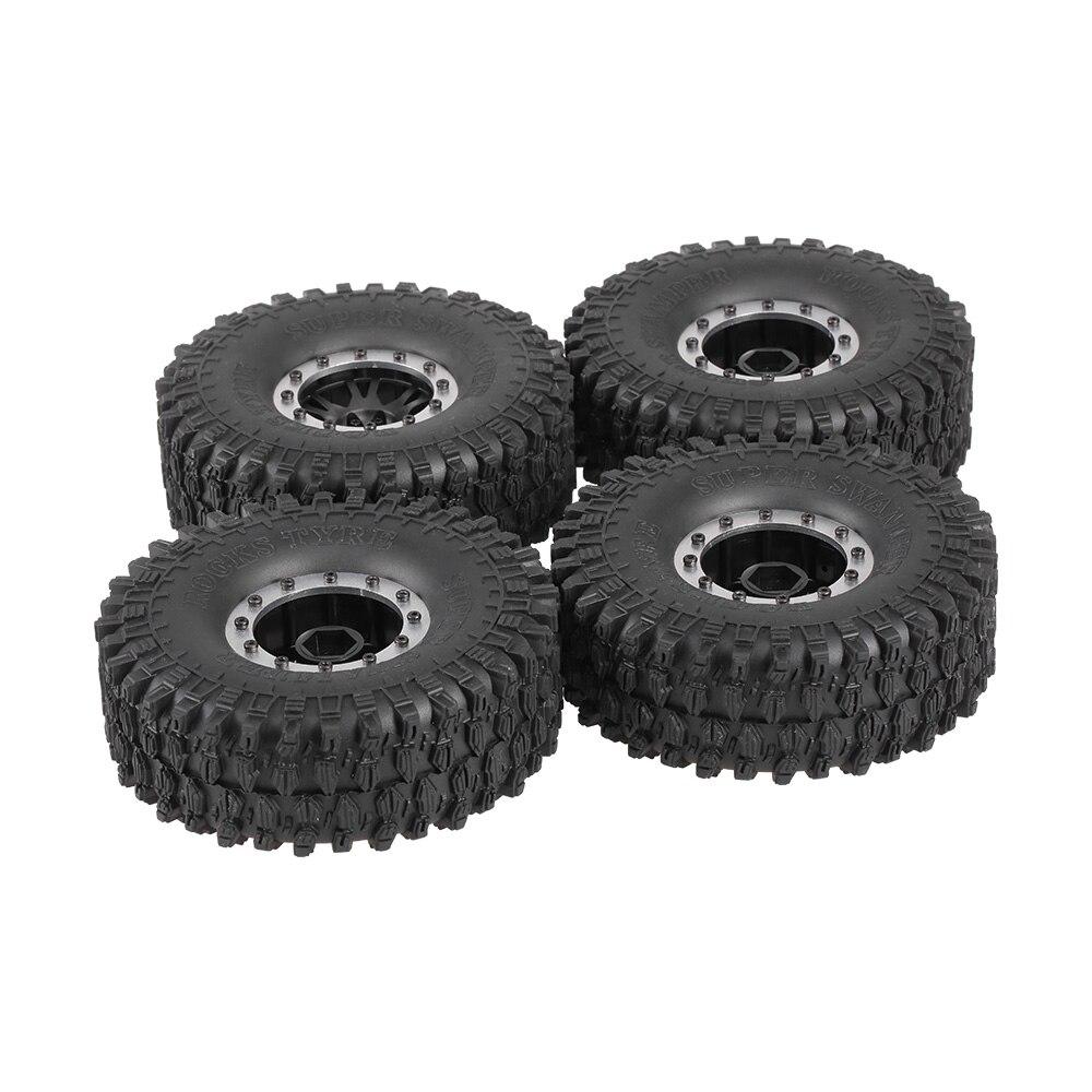 4pcs 5020 2 120mm RC Tires 1 9 Rubber Rocks Tyres Rim Tyre Wheel Set for