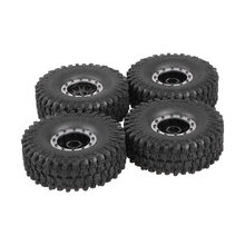 "4 stks 5020-2 120mm RC Banden 1.9 ""Rubber Rotsen Banden Velg Band Wiel Set Axiale SCX10 RC4WD D90 TRX-4 1/10 RC Rock Crawler Auto(China)"