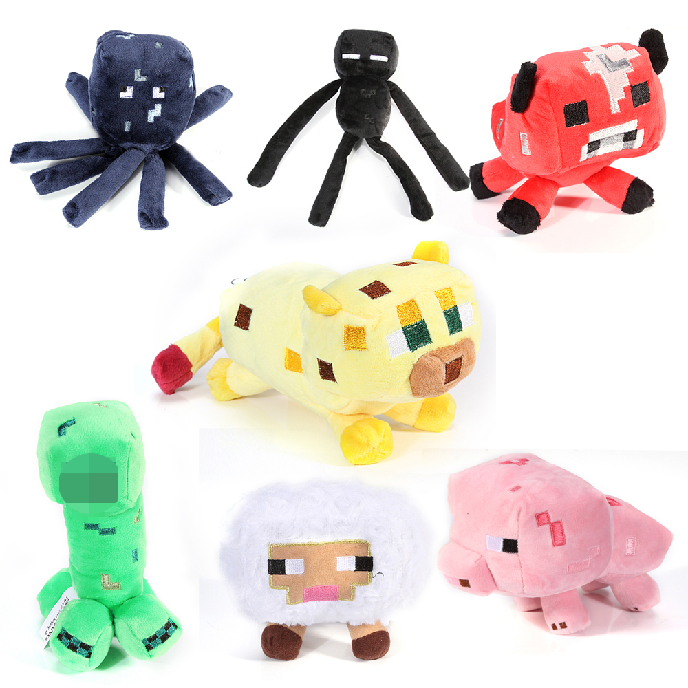 Minecraft plush toy 7pcs/lot Brinquedos Game Toys Cheapest Sale High Quality Plush Toys Game Toys