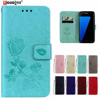 WoodLysi PU Leather Flip Case For Samsung Galaxy S5 S6 S4 S3 S7 Edge S8 Plus A3 A5 2016 J3 J1 J5 J7 2017 G530 Cover Case