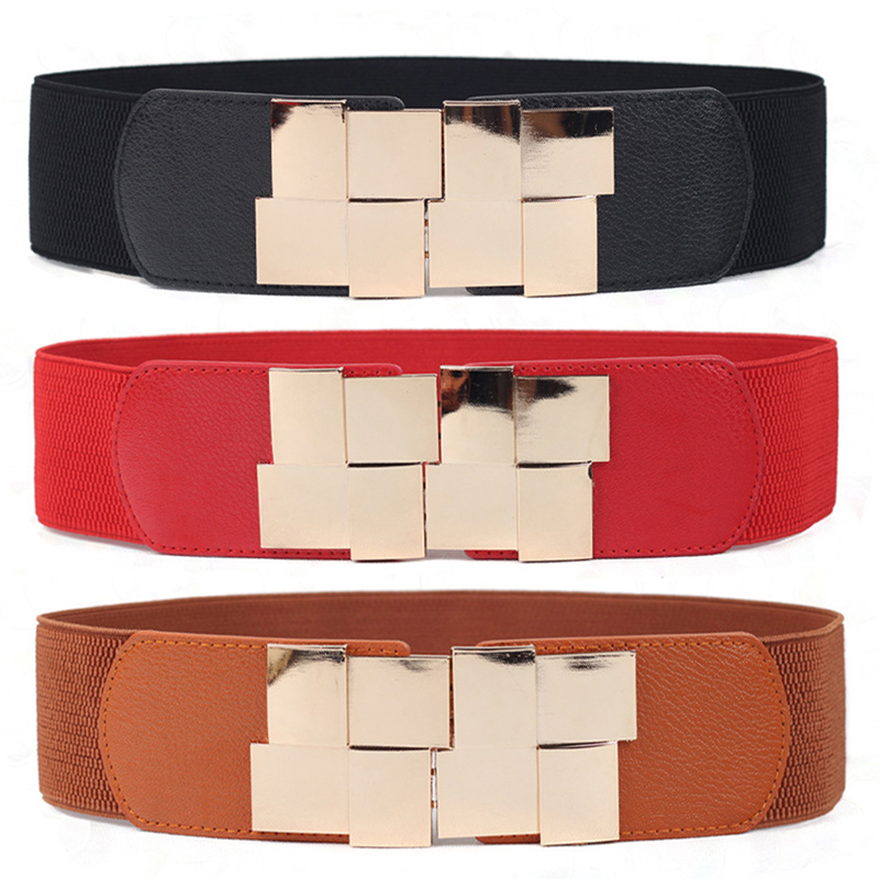 Wide Waist Belts |Big Elastic Buckle Belt