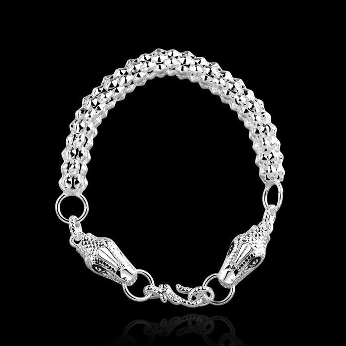 3ad74e27b81ff fine summer style silver plated bracelet 925-sterling-silver jewelry  bijouterie snake chain bracelets for women men