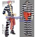 Anime Lucky Dog Cosplay - Lucky Dog Luchino Stripe Men's Cosplay Costume/Halloween Party Costume Freeshipping
