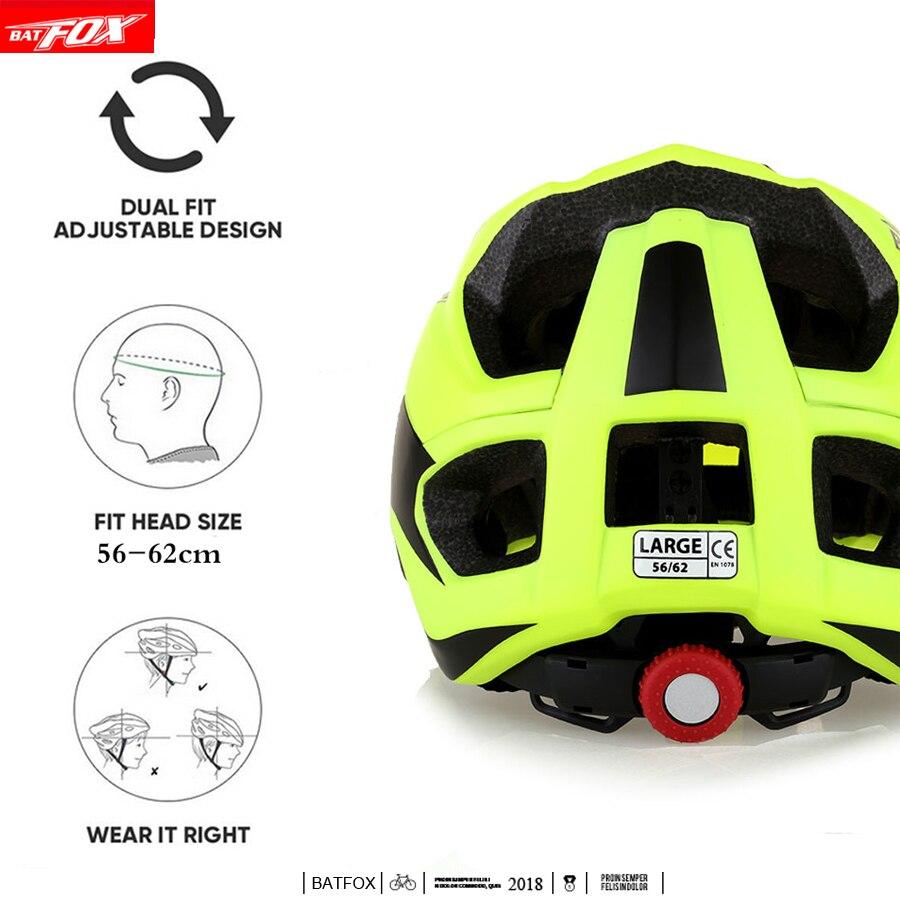 Полноразмерный велосипедный шлем BATFOX, Сверхлегкий дорожный шлем, летучая мышь, лиса, DH AM, высокое качество, mtb, велосипедный шлем, casco ciclismo