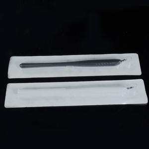 Image 3 - 10 шт. одноразовая ручка для микроблейдинга 18U/14pin EO Gas стерилизованные 3D микролезвия инструменты машинка для перманентного макияжа татуировки бровей