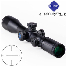 Discovery FFP Tactical Dual Mil-Mil Rifle Scope 4-14x44mm  1/10 Mil Adjustments First Focal Reticle with extended sunshade цена и фото