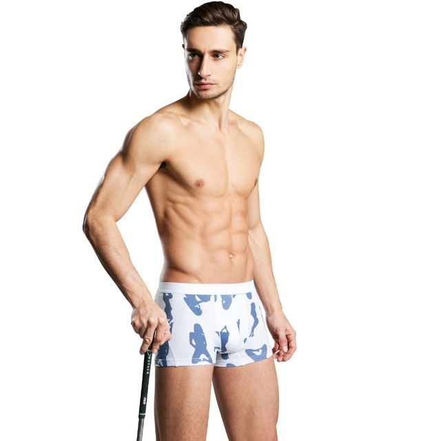 8f814b0c939 Mens Underwear Plus Size Men s Sexy Beautiful Girl Pattern Shorts Fashion  Breathable Cotton Underwear