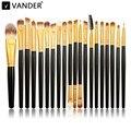 Vander pçs/sets Profissional 20 Pincéis de Maquiagem Kits de Escova Cosméticos Maquiagem Pincel Kabuki Fundação Escovas Punho De Madeira