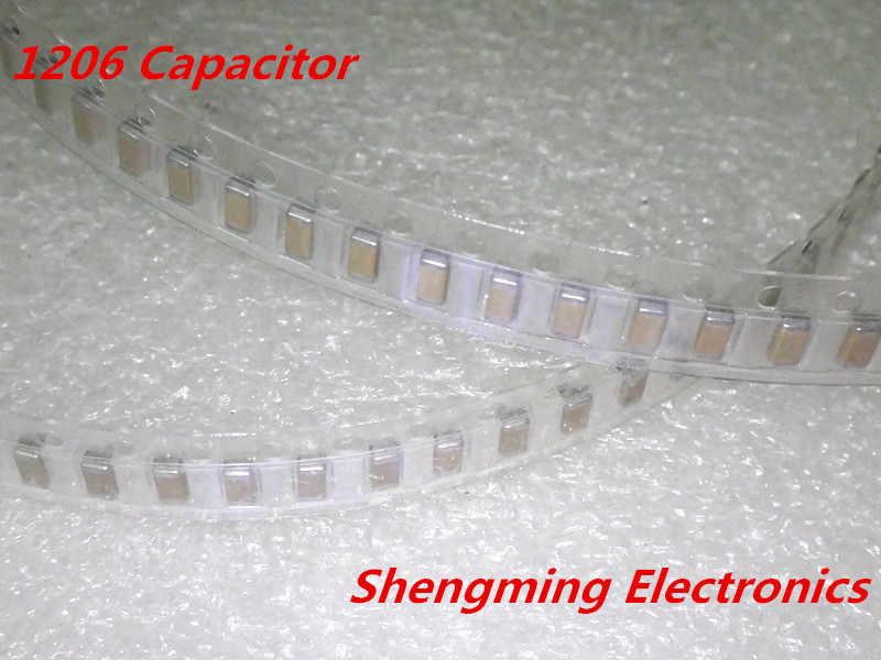 100pcs 1206 107Z 100uF 16V chip SMD Ceramic capacitor