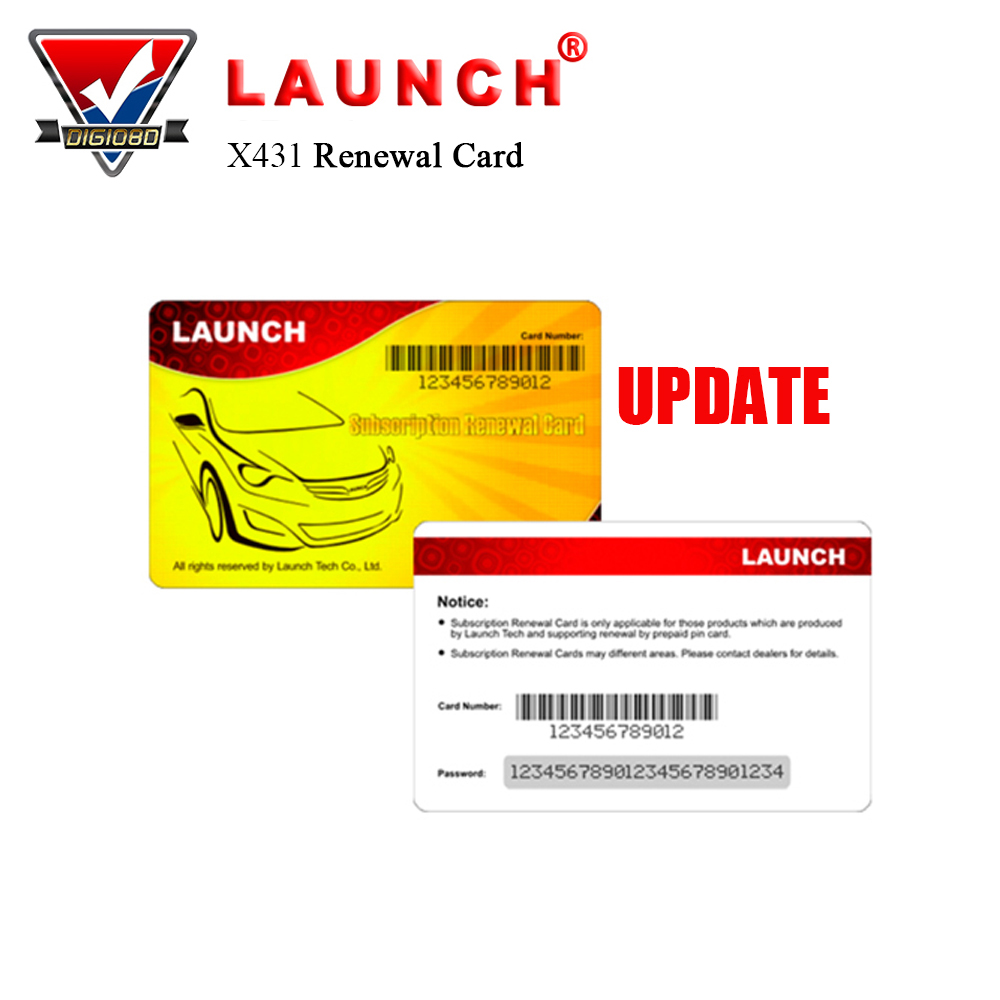 Launch Renewal Card for X431 V+/ X431 PROS MINI/Diagun IV/ X431 V/X431 PRO Pin Card for Gasoline & Diesel Cars Update Service тестер аккумулятора launch x431