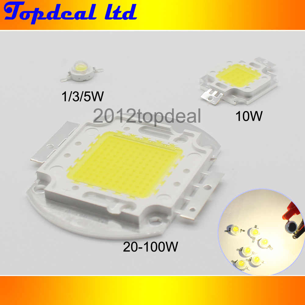 High Power LED Chip 1 W 3 W 5 W 10 W 20 W 30 W 50 W 100 W COB LED koraliki naturalny biały 4000 K-4500 K do DIY LED reflektor reflektor