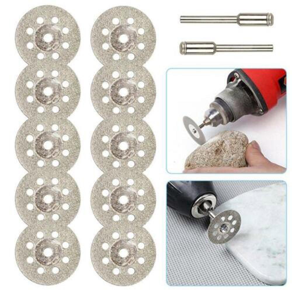 10PCS 40mm Diamond Coated Rotary Cutting Cut Off Blade Wheels Disc Kits New