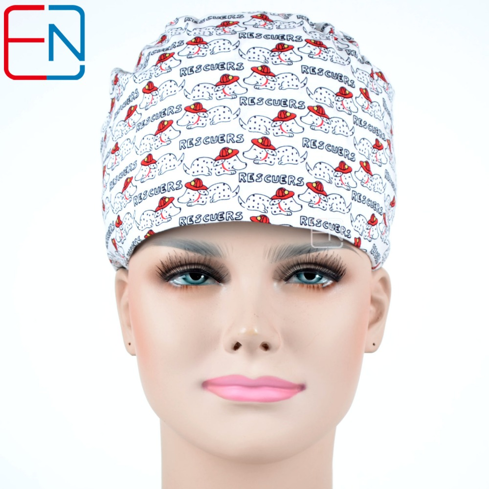 Hennar Medical Scrub Caps For Nurse Doctor Hospital Dentist Caps Masks Surhical Clinic Dental Operation Caps Medical Accessories