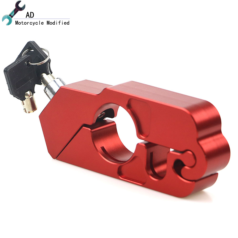 Motorcycle Handlebar Lock Scooter ATV Brake Clutch Security Safety Theft Protection Locks for Honda Kawasaki Yamaha Vespa Gts Замок