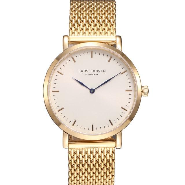 Merek Denmark mewah emas wanita jam tangan sederhana