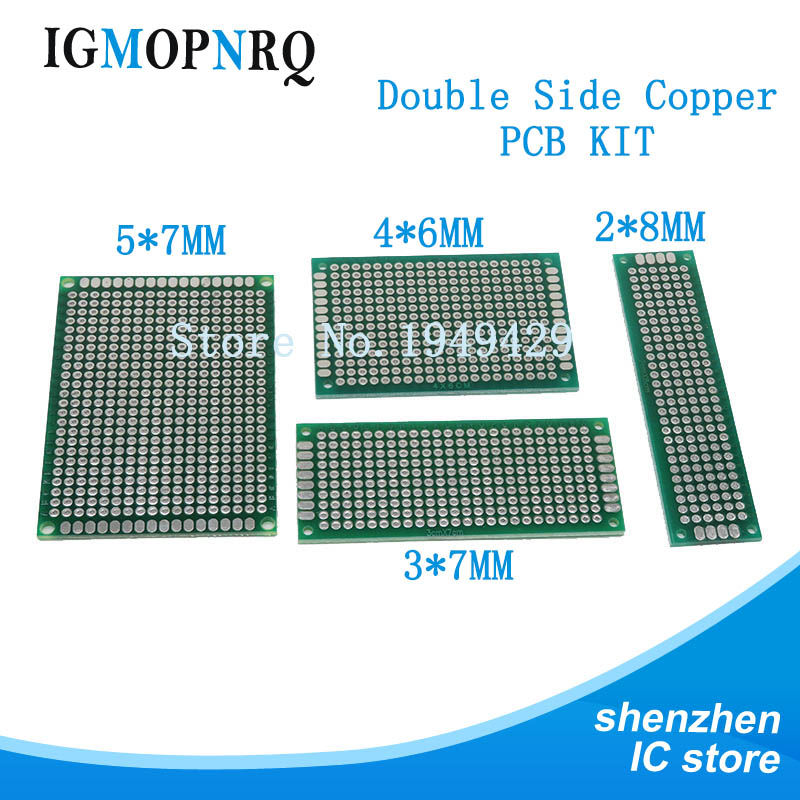 4pcs 5x7 4x6 3x7 2x8 Cm Double Side Copper Prototype Pcb Universal Board Electronic Diy Kit PCB
