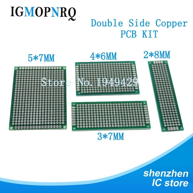 4pcs 5x7 4x6 3x7 2x8 Cm Double Side Copper Prototype Pcb Universal Board Electronic Diy Kit PCB
