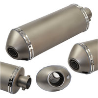For large engine capacity displacement akrapovic exhaust scooter muffler sports motorcycle oval exhaust