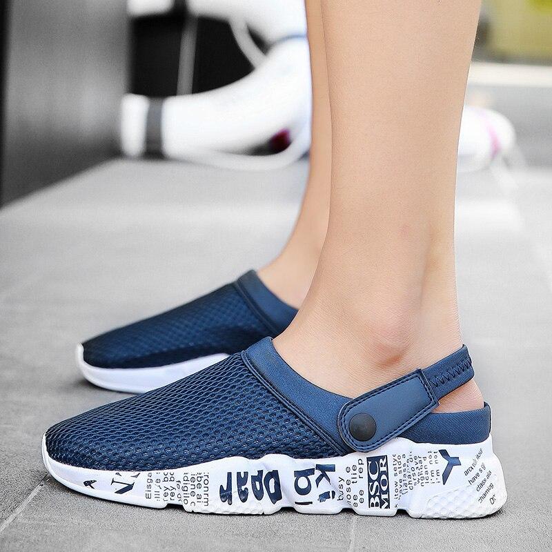 Unisex Casual Sandals Shoes Fashion Breathable Mesh Shoes Summer Men Sandals Cheap Men Slippers Sandals Walking Shoes цена 2017