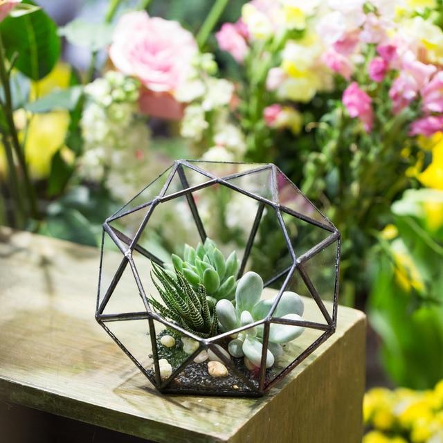 Tabletop Modern Handmade Eight Surface Diamond Geometric