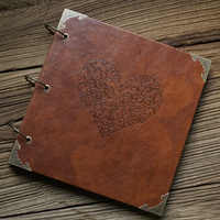 10 inches /12 inches Personalized Vintage Photo album Leather Baby Wedding Guestbook Alternative /Scrapbook Album