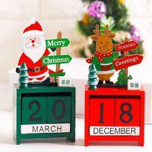 Creative christmas Calendar box decorations for home Wood Quality Elk noel adornos de navidad Homemade enfeites de natal kerst