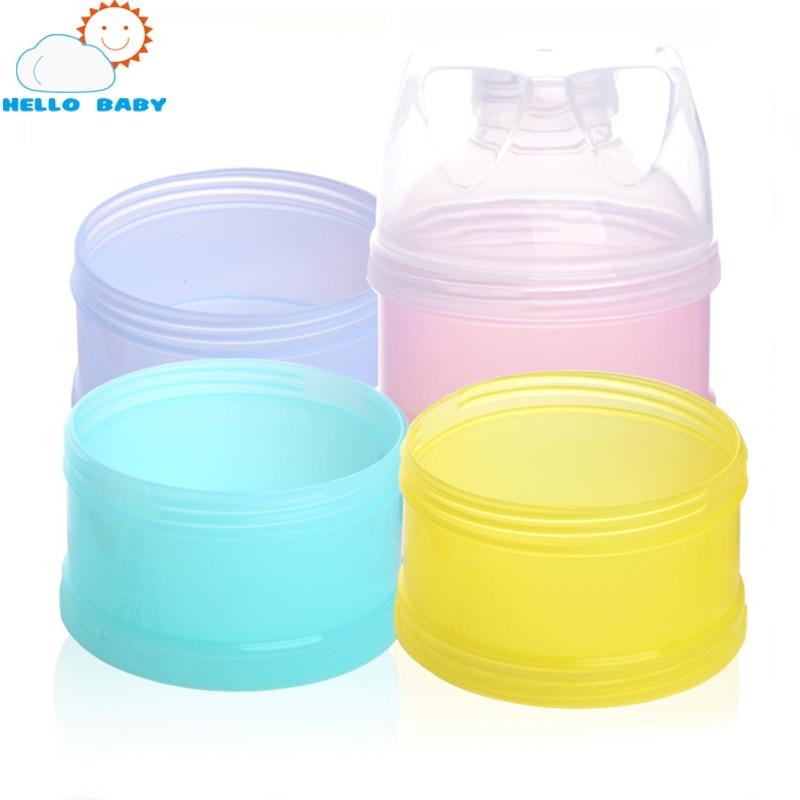 Flaschenzuführung Neue Ankunft Tragbare Baby Infant Feeding Milchpulver Flasche Container 4 Schichten Grid Box Zufällige Farbe Reise Aufbewahrungsbox Produkte