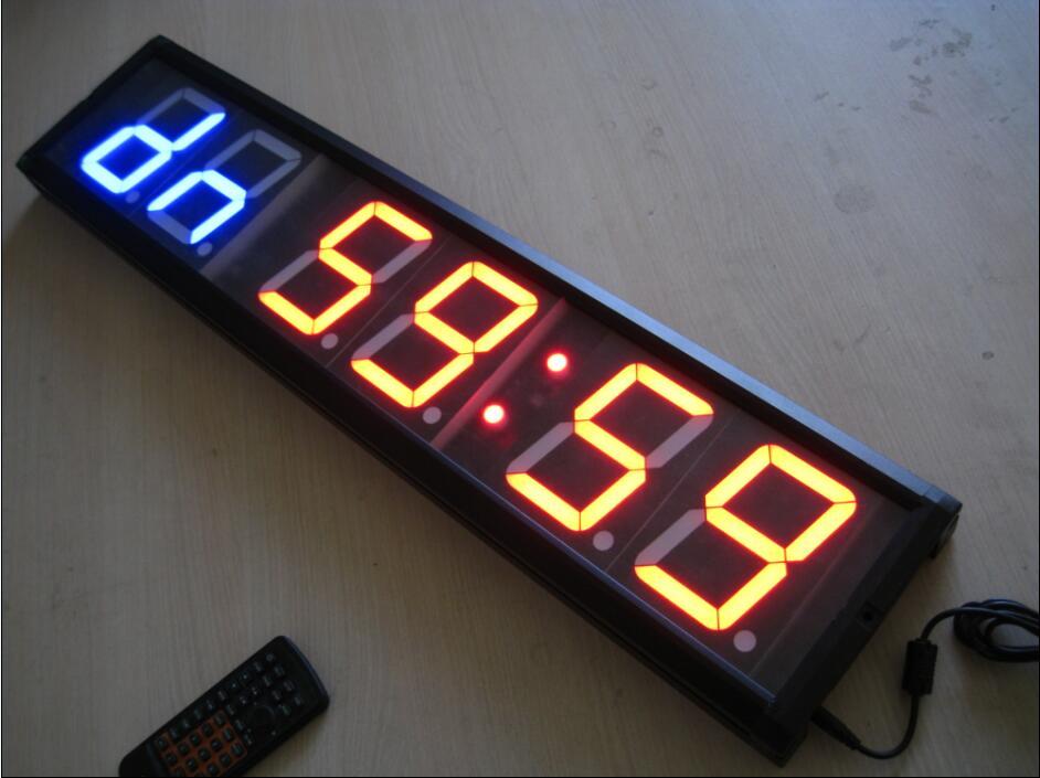 Тренажерный Зал Таймер Большой размер Мути функция светодиодные часы с функцией обратного отсчета 4 дюймов Высота персонаж Спорт таймеры Б