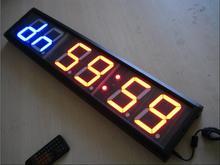 ТРЕНАЖЕРНЫЙ ЗАЛ Таймер большой размер мути функция led часы обратного отсчета 4 inch высота символов спорта таймеры, бесплатная доставка
