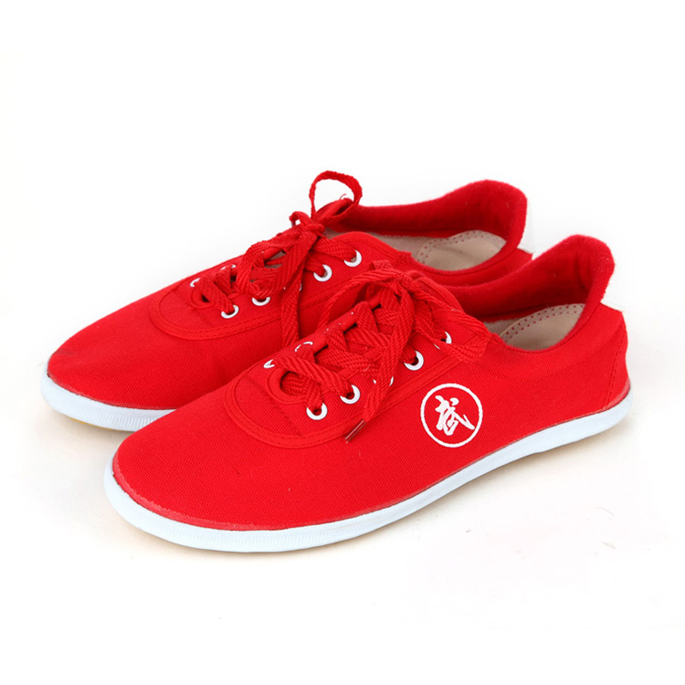 Высокое качество тай-чи Обувь ребенка в школу белые спортивные Обувь Боевые искусства Для мужчин Для женщин Тайцзи Wu Шу обуви кунг-фу 5 видов цветов - Цвет: RED 1