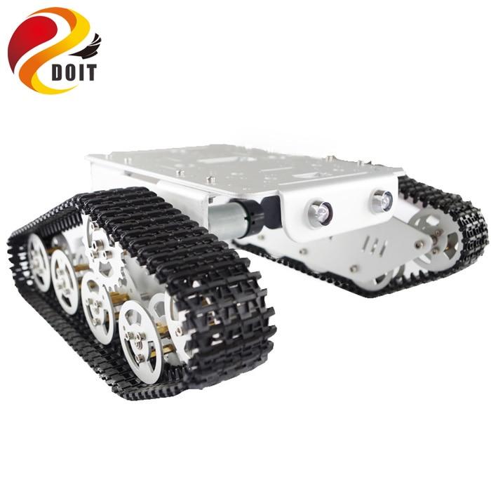 Arduino izləyən Caterpillar Track Zəncirvari Nəqliyyat - Uzaqdan idarə olunan oyuncaqlar - Fotoqrafiya 3