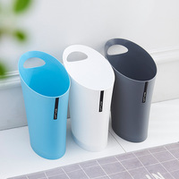 Creative Crevice Type Trash Cans Household Handle Plastic Waste Bins Kitchen Living Room Paper Basket