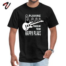 Plain Men Top T-shirts Round Collar Occult Sleeve Tasmanian Devil Fabric Bass Player Happiness Tops Shirt Customized