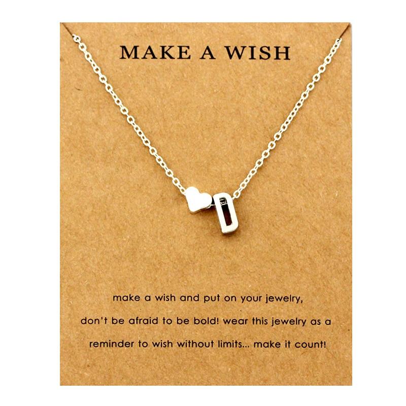 Сердце начальные Подвески ожерелье s персонализированное ожерелье с буквами Имя ювелирные изделия для женщин мужчин аксессуары подруги любовника пара подарок - Окраска металла: NE1658