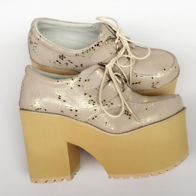 Chaussures Cuir En Doux Semelle Noir De Britannique Qualité Haute Harbin vert Punk Épaisse An7019 Rétro Occasionnel Muffins orange Princesse Véritable wEpWRqFF