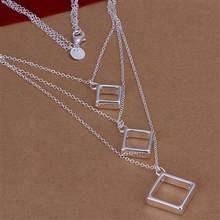 !!, Vente CHAUDE! Collier Perle Trois Ligne, en argent, N93, Prix Usine, Livraison gratuite Bijoux en vogue, collier, bijoux