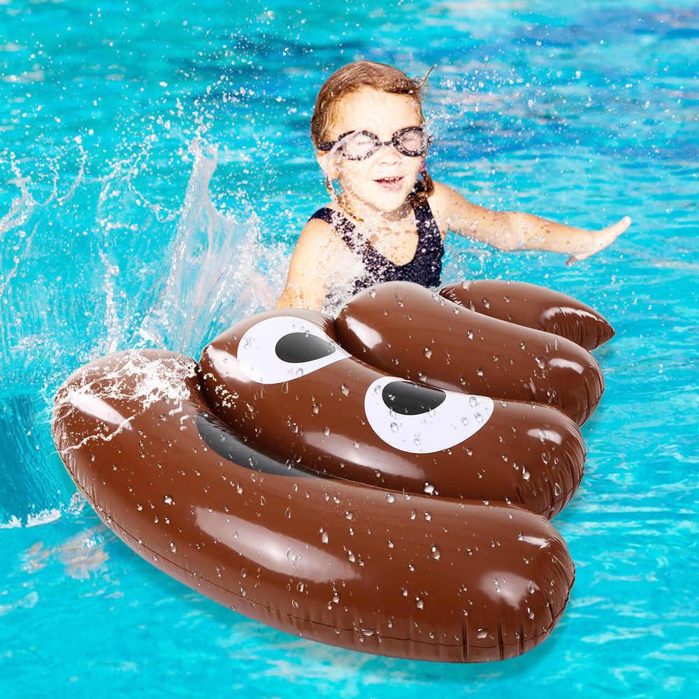 48 дюймов какашки смайлики надувной бассейн Поплавок Плот смешной надувной лугер плот Flaoter матрас плавательный круг вода море пляж игрушки