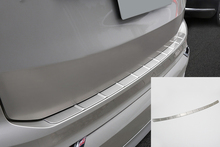 цена на For Volvo XC90 2015 2016 2017 2018 2019 Stainless Steel Outer Rear Bumper Guard Plate Cover Trim 1pcs Car Styling Accessories