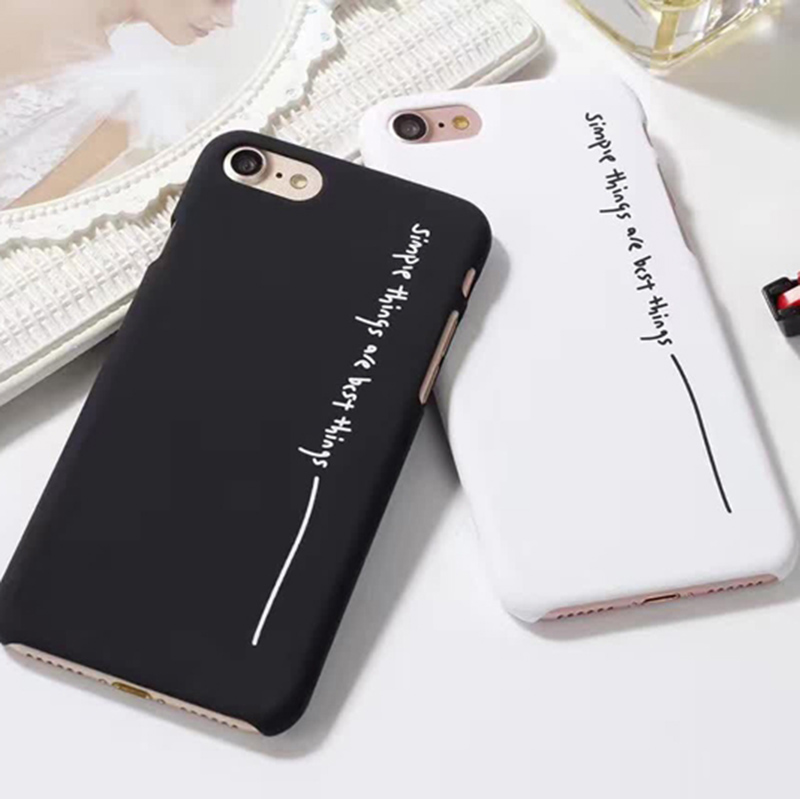 Simple letters Hard PC Case For iPhone 7 6 6S Plus Character Simple Best Things Cover Back For iPhone 6 7 6S
