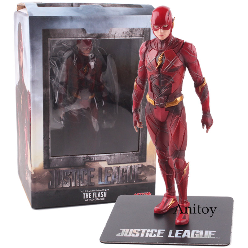 Justice League Action Figure The Flash ARTFX + STATUE 1/10 Scale Pre-Painted Figure Model Kit Toy 17cm KT4790 final fantasy x 2 artfx 1 6 scale soft vinyl statue figure yuna unopened new
