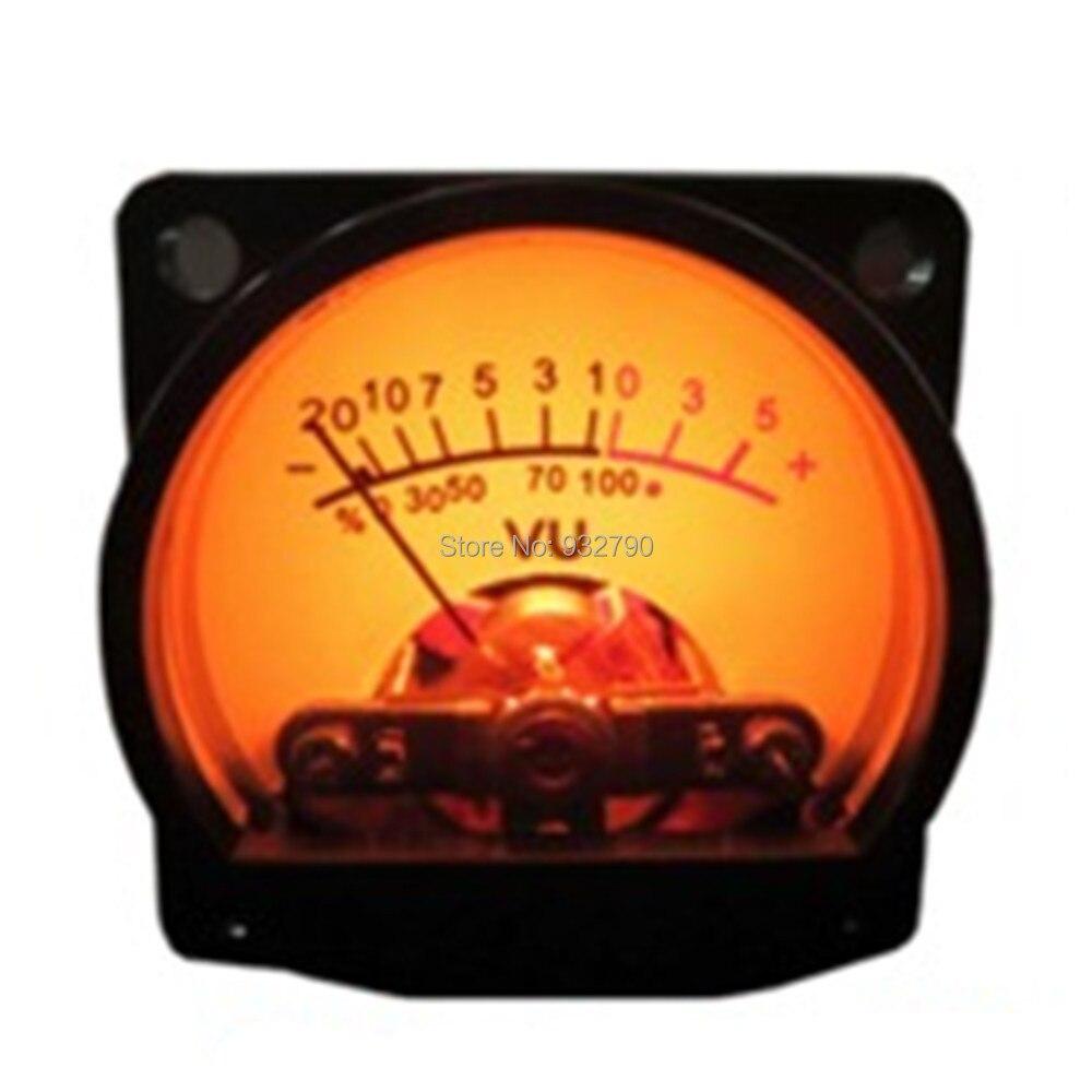 Analog Vu Meter : Panel vu meter warm back light recording audio level amp